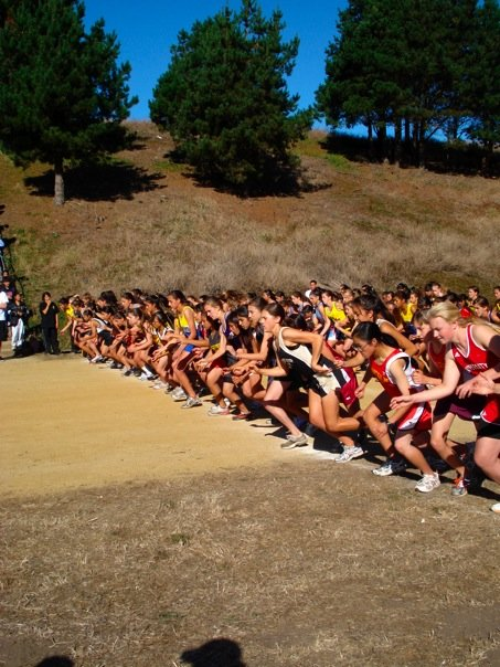Cross country race start line