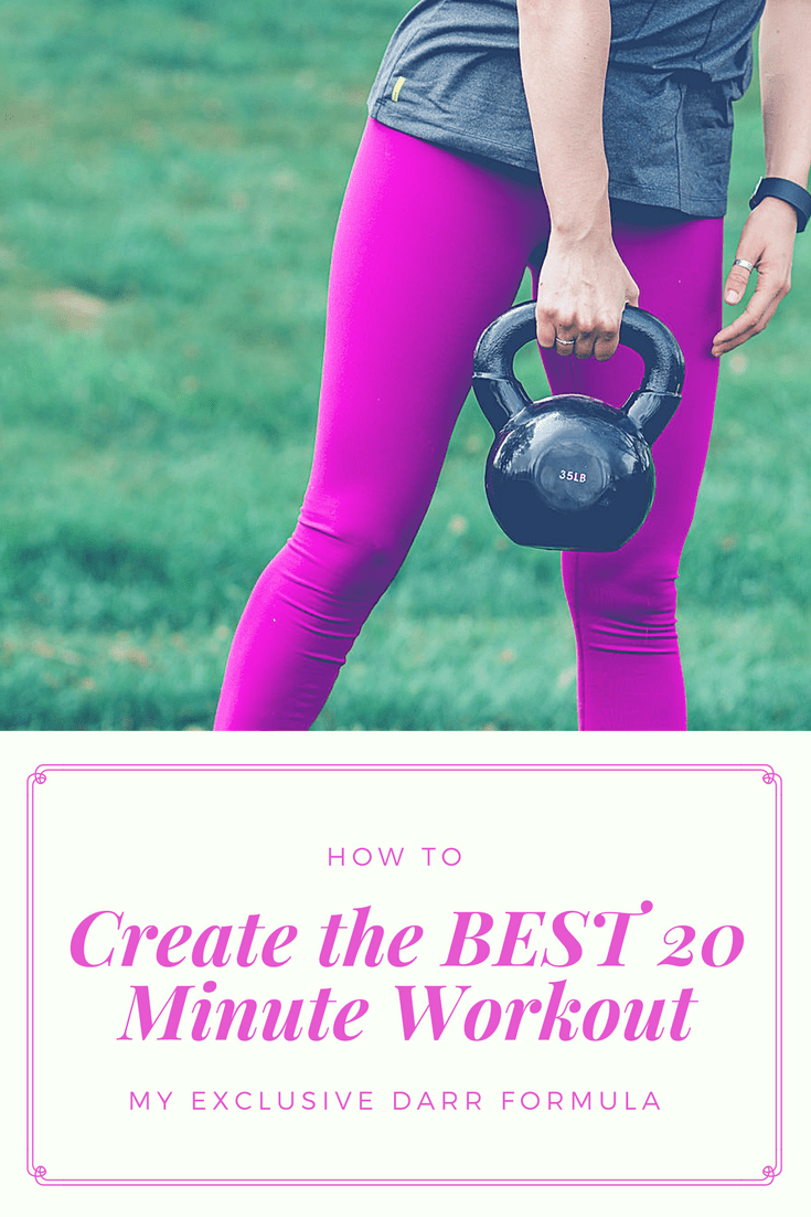 So, with lots of experimentation, I've found a formula for creating the best 20 minute workout, and I'm sharing it today. I've found that the best 20 minute workouts have four components, so if we include these, we can rest assured we've created the best 20 minute workout out there and stop questioning whether we've done enough.