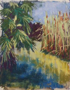 "Cattails 8"" x 10"""