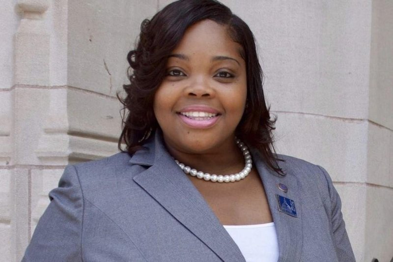 Katherine Gilmore Richardson at City Hall