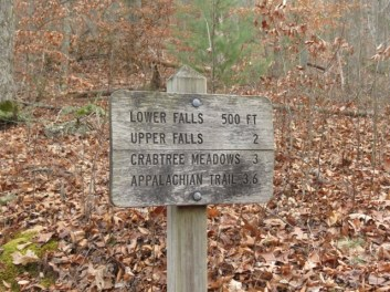 Just off the Blue Ridge Parkway. Great site for hikers. .One must be very careful on the slippery rocks.