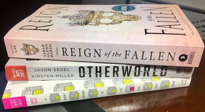 Three Advanced Reader's Copy Books