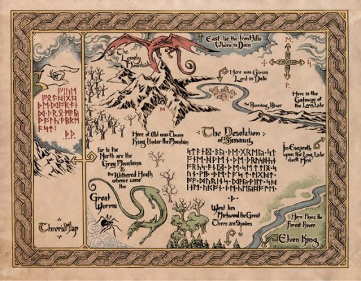 Map from the Hobbit