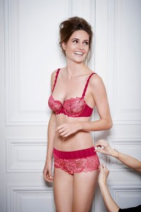 Simone Perele Amour Demi and Boyshort in Cranberry