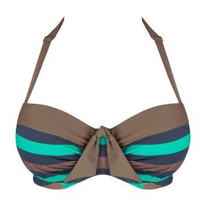 Punch Bikini Top, Curacao/Golden Shadow