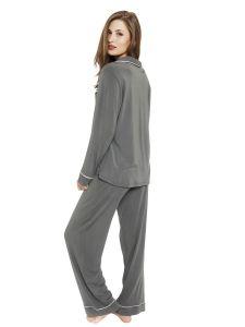 Long pants/sleeve PJ set, Tapenade