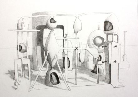 2013, Pencil on paper,70cm x 52cm