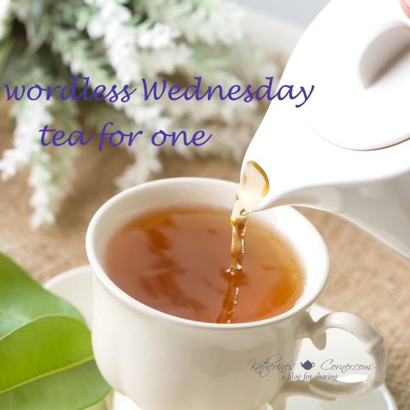 wordless wednesday tea for one
