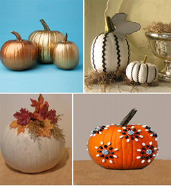 no carve pumpkin decor