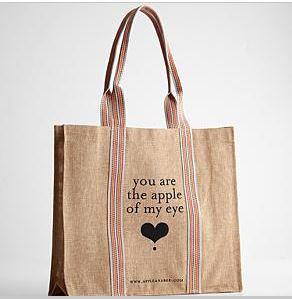 apple of my eye shopping bag katherines corner