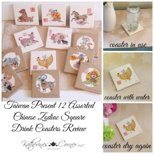 Taiwan Present 12 Assorted Chinese Zodiac Square Drink Coasters Review