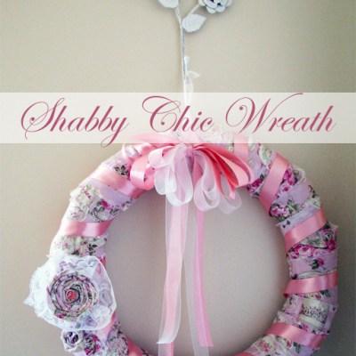 shabby chic wreath diy