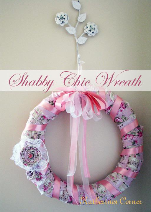 shabby chic wreath katherines corner
