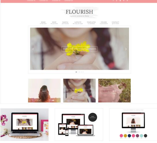 flourish blog design