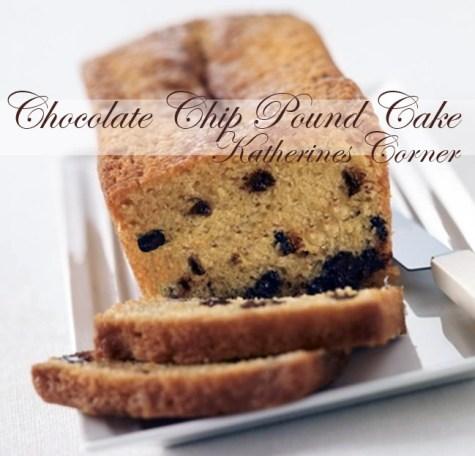 chocolate chip pound cake katherines corner