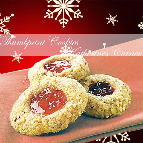 thumbprint cookies katherines corner