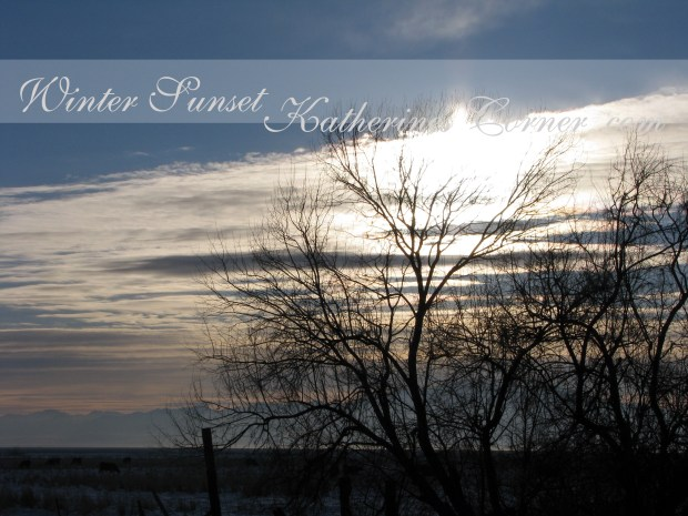 winter sunset katherines corner