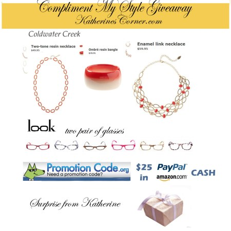 compliment my style giveaway prizes katherines corner