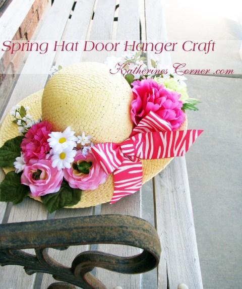 spring hat door hanger craft katherines corner