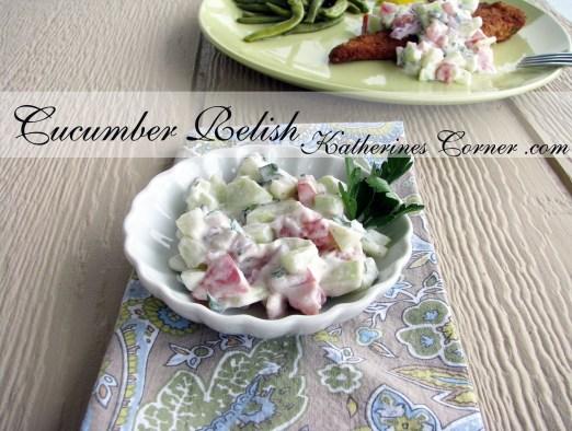 light and fresh cucumber relish recipe