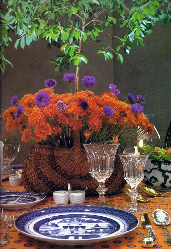basket filled with chrysanthemums