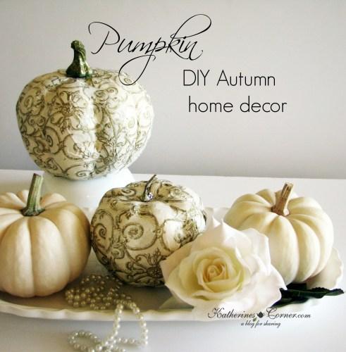 diy pumpkin home decor