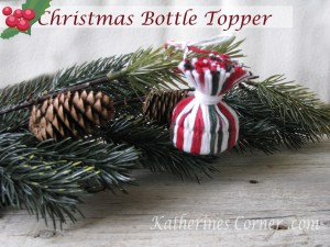 how to make a yarn hat wine bottle topper