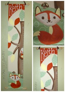 woodland critter growth chart