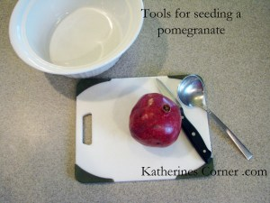 tools for seeding a pomegranate