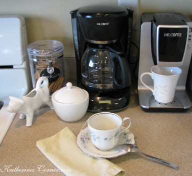 create a coffe and tea station in a small space