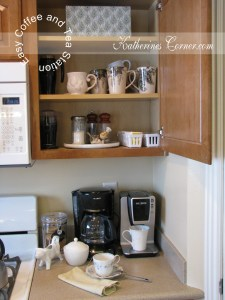 easy coffee and tea station