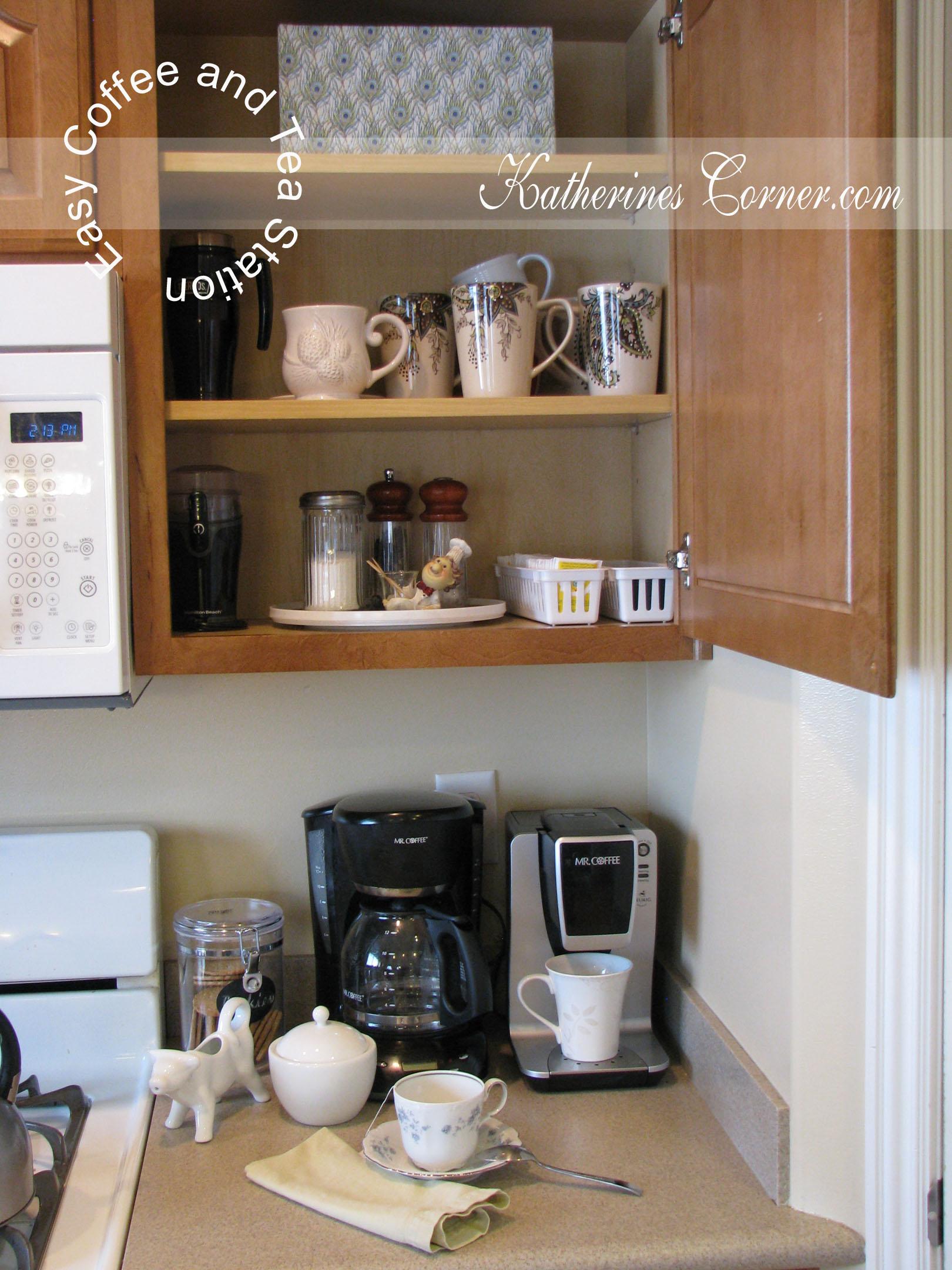 Small Space Coffee Tea Station Katherines Corner