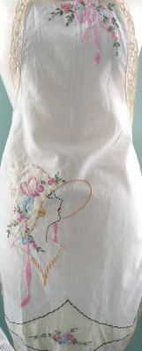 embroidered apron seaside rose garden flicker