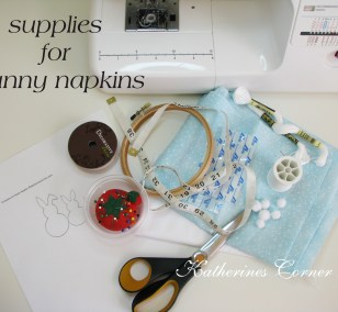 easter bunny napkin craft supplies