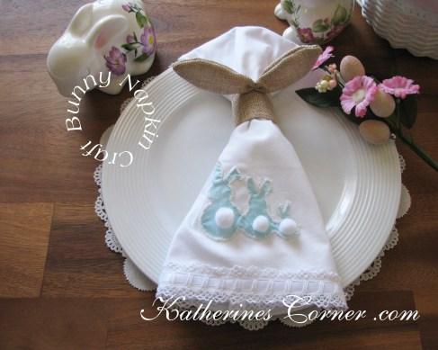 easter bunny napkin tutorial