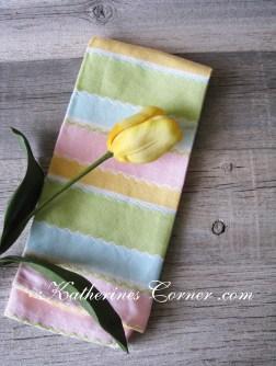 pastel tea towel