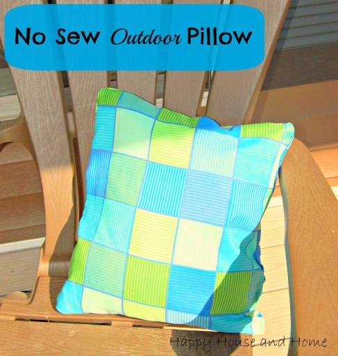 no sew outdoor pillow