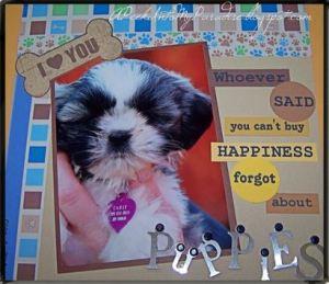 puppy scrapbook