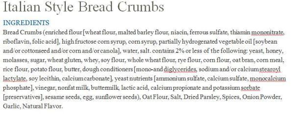 store label bread crumbs