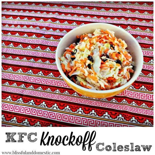 KFC homemade coleslaw