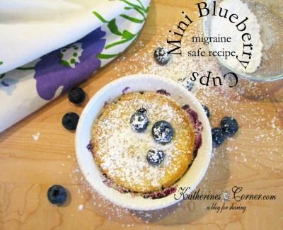 mini blueberry cups