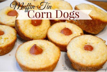 muffin tin corn dogs