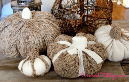 how to make sweater pumpkins