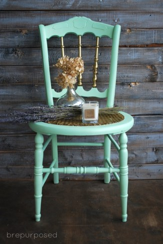 mint and gold chair