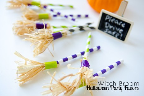 witches broom party favors