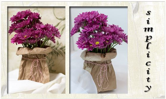 flowers in paper bag