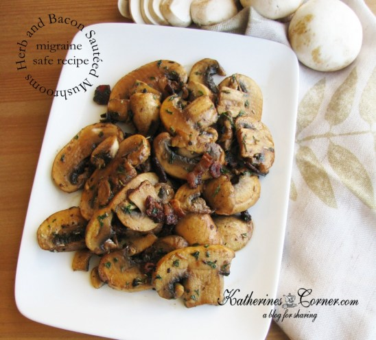 herb and bacon mushrooms