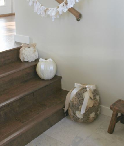 diy shabby chic pumpkins