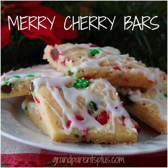 merry cherry treat bars
