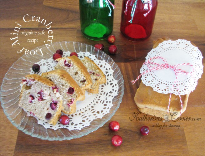 mini cranberry loaves